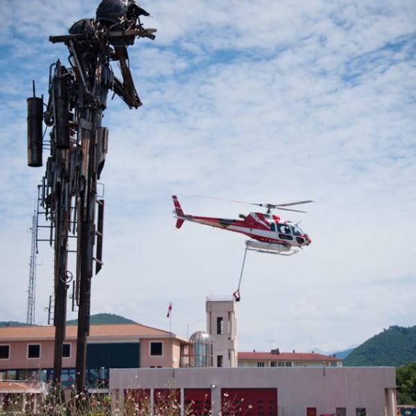 Décollage hélicoptère depuis l'Etat-Major
